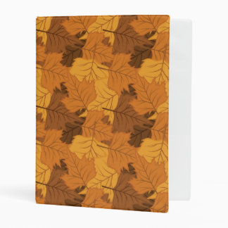 Autumn leaves background mini binder
