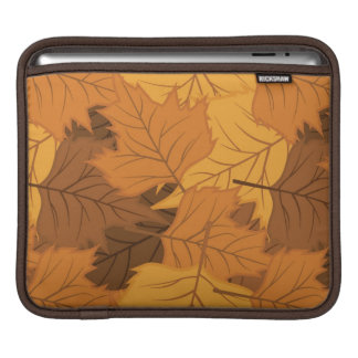 Autumn leaves background sleeve for iPads