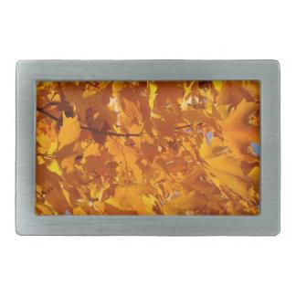 Autumn Leaves Belt Buckle Golden Orange Fashion