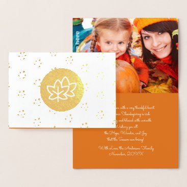 Professional Business Autumn Leaves & Berries Thanksgiving  Photo Cards