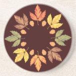 Autumn Leaves Beverage Coasters