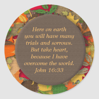 Autumn Leaves-Bible Verse-Trials of Life Sticker