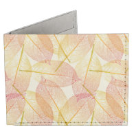 Autumn Leaves Billfold Wallet