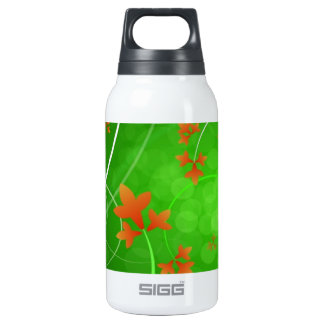 Autumn Leaves Blowing In The Wind Insulated Water Bottle