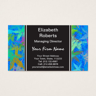 Autumn Leaves Blue Skies Business Card