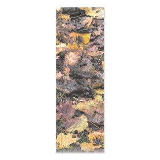 Autumn Leaves Bookmark Mini Business Card
