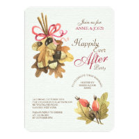 Autumn Leaves Bouquet Invitation