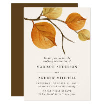 Autumn Leaves | Branch Wedding Invitation