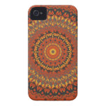 Autumn Leaves Brown Mandala iPhone 4 Case-Mate Case