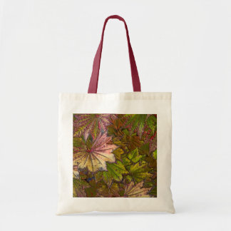 Autumn Leaves - Budget Tote Canvas Bags