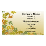Autumn Leaves Double-Sided Standard Business Cards (Pack Of 100)