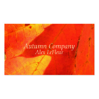 Autumn Leaves Business Cards