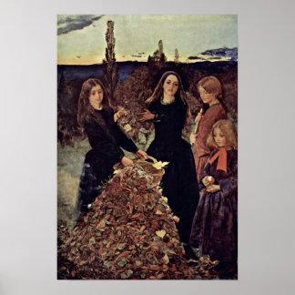 autumn leaves by John Everett Millais Posters