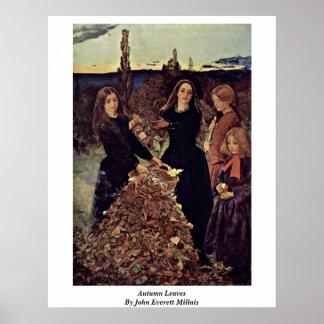 Autumn Leaves By John Everett Millais Poster