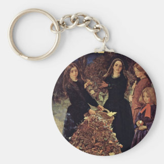 Autumn Leaves By Millais John Everett Keychain