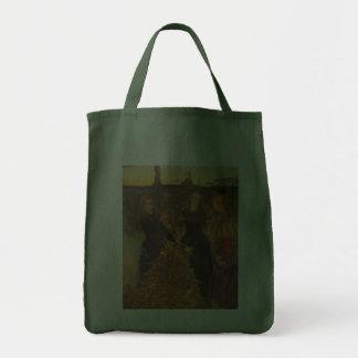 Autumn Leaves by Millais, Vintage Victorian Art Canvas Bag
