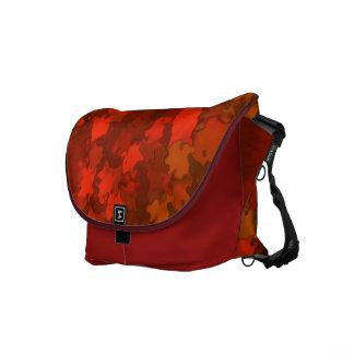 Autumn Leaves Camo Messenger Bags
