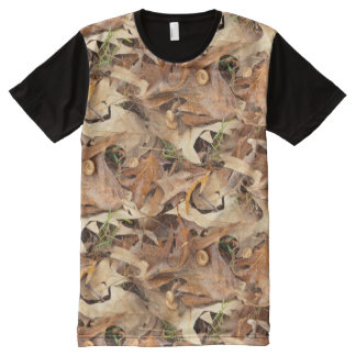 Autumn Leaves Camouflage Nature Photography All-Over-Print Shirt