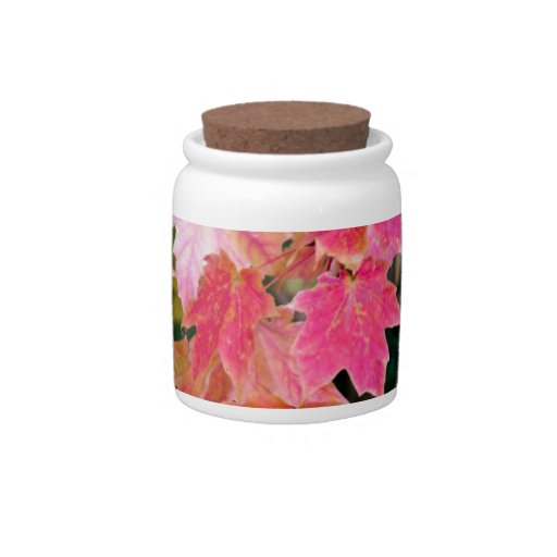 Autumn Leaves Candy Jar