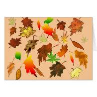 Autumn Leaves Card