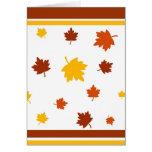 Autumn leaves - Card