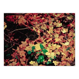 Autumn leaves carpet 6.5x8.75 paper invitation card