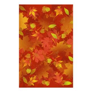 Autumn Leaves Carpet Stationery