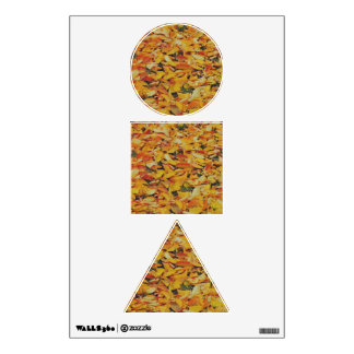 Autumn leaves carpet wall graphics