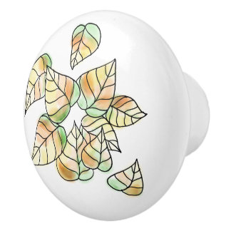 Autumn Leaves Ceramic Knob