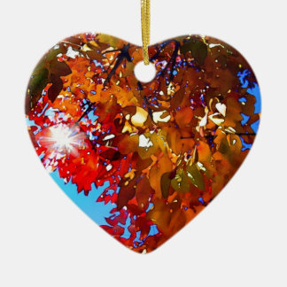 Autumn Leaves Ceramic Ornament