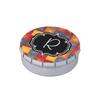 Autumn Leaves Checkerboard Jelly Belly Candy Tin