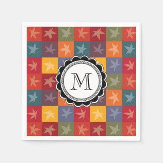 Autumn Leaves Checkerboard Napkin
