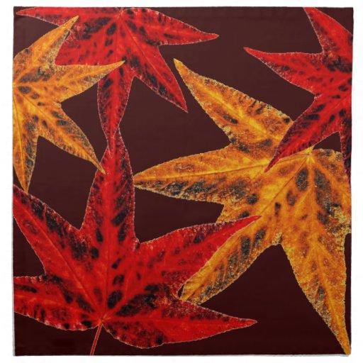 Autumn Leaves Cloth Napkin