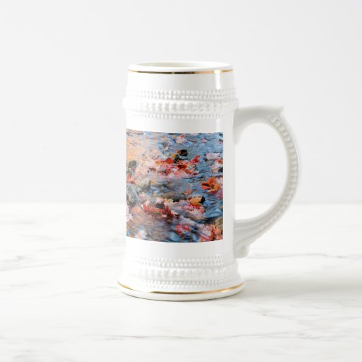 autumn leaves color 18 oz beer stein