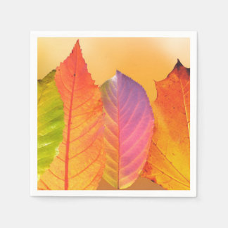Autumn Leaves Colorful Modern Fine Art Photography Napkin