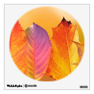 Autumn Leaves Colorful Modern Fine Art Photography Wall Decal