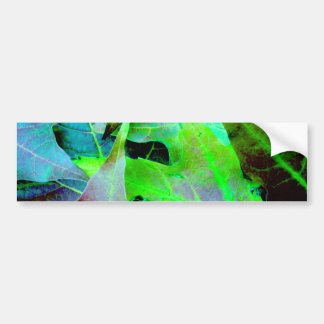 "Autumn Leaves (""Cool colors"" Effect) Bumper Sticker"
