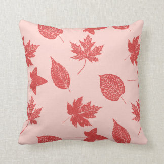 Autumn leaves - coral orange and pink pillows