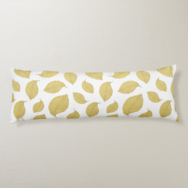 "Autumn Leaves Cotton Body Pillow ( 20"" x 54"")"