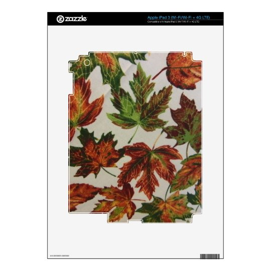Autumn Leaves Decal For iPad 3