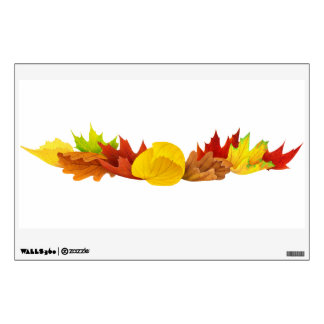 Autumn leaves decoration wall sticker