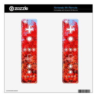 autumn leaves design game controller decal for the wii remote