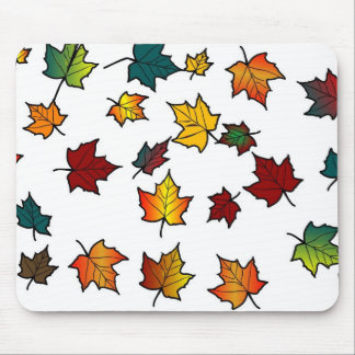 autumn leaves design mouse pad