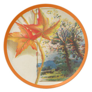 Autumn Leaves Dinner Plate