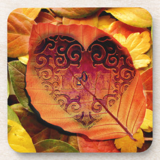 Autumn Leaves Drink Coaster