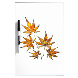 autumn leaves dry erase board