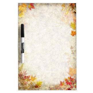 Autumn Leaves Dry Erase Whiteboards