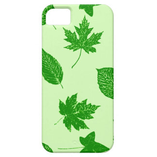 Autumn leaves - emerald and lime green iPhone 5 cover