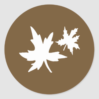 Autumn Leaves Envelope Sticker Seal