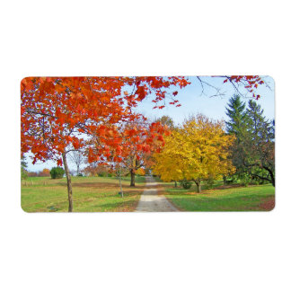 Autumn Leaves Fall Personalized Shipping Label
